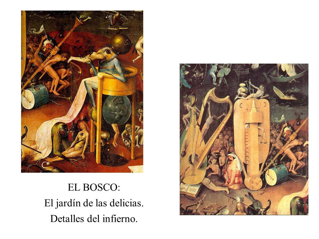 EL BOSCO: El jardín de las delicias. Detalles del infierno.