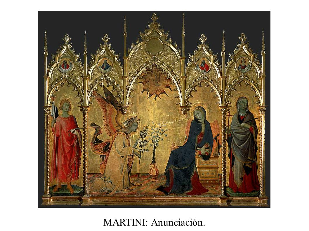 MARTINI: Anunciación.