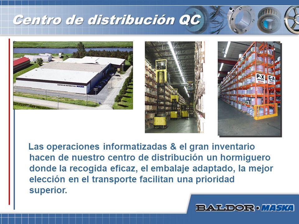 Centro de distribución QC Las operaciones informatizadas & el gran inventario hacen de nuestro centro de distribución un hormiguero donde la recogida