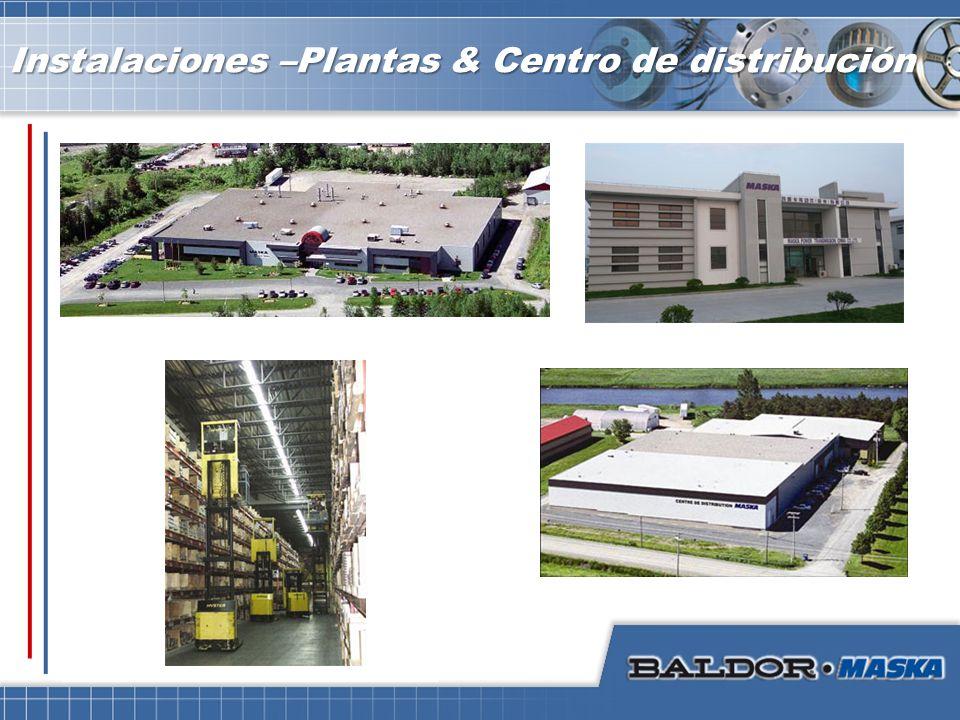 Instalaciones –Plantas & Centro de distribución