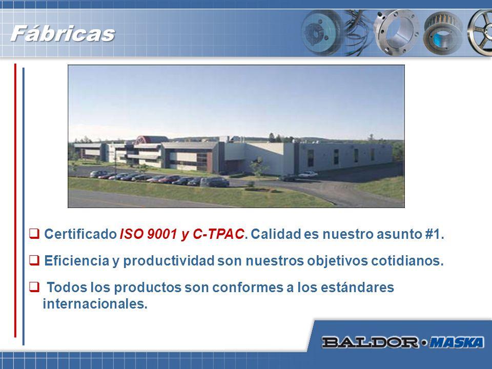 Todos los productos son conformes a los estándares internacionales. Eficiencia y productividad son nuestros objetivos cotidianos. Certificado ISO 9001