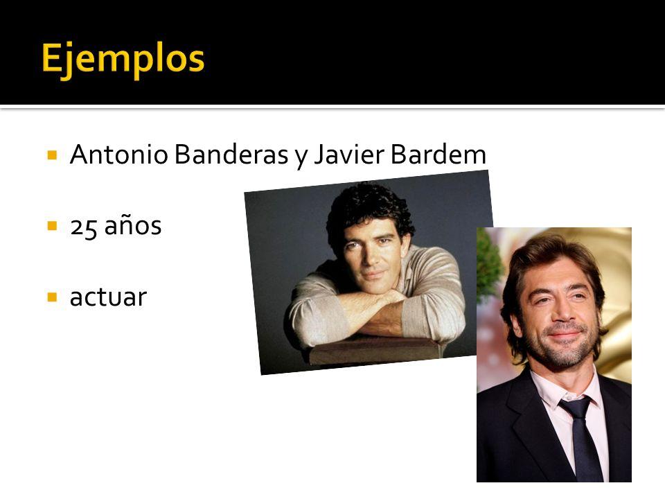 Antonio Banderas y Javier Bardem 25 años actuar