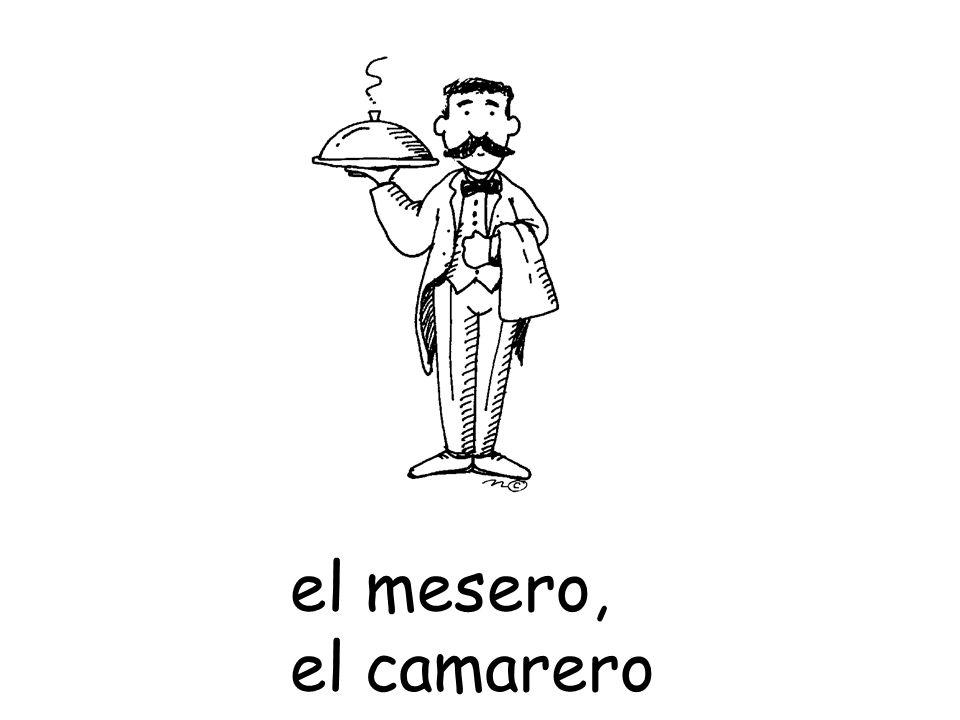 el mesero, el camarero