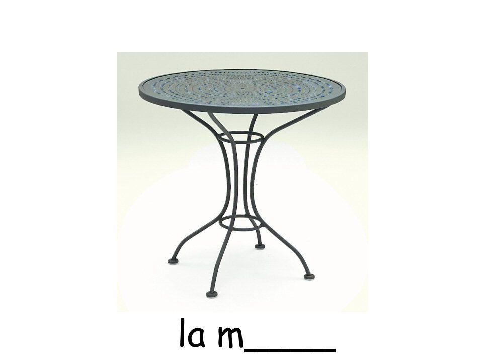 la m____
