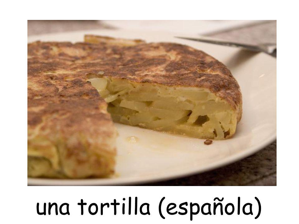 una tortilla (española)
