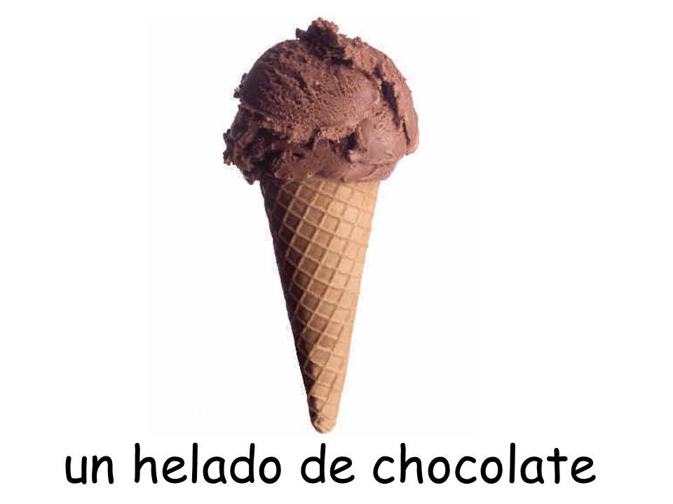 un helado de chocolate