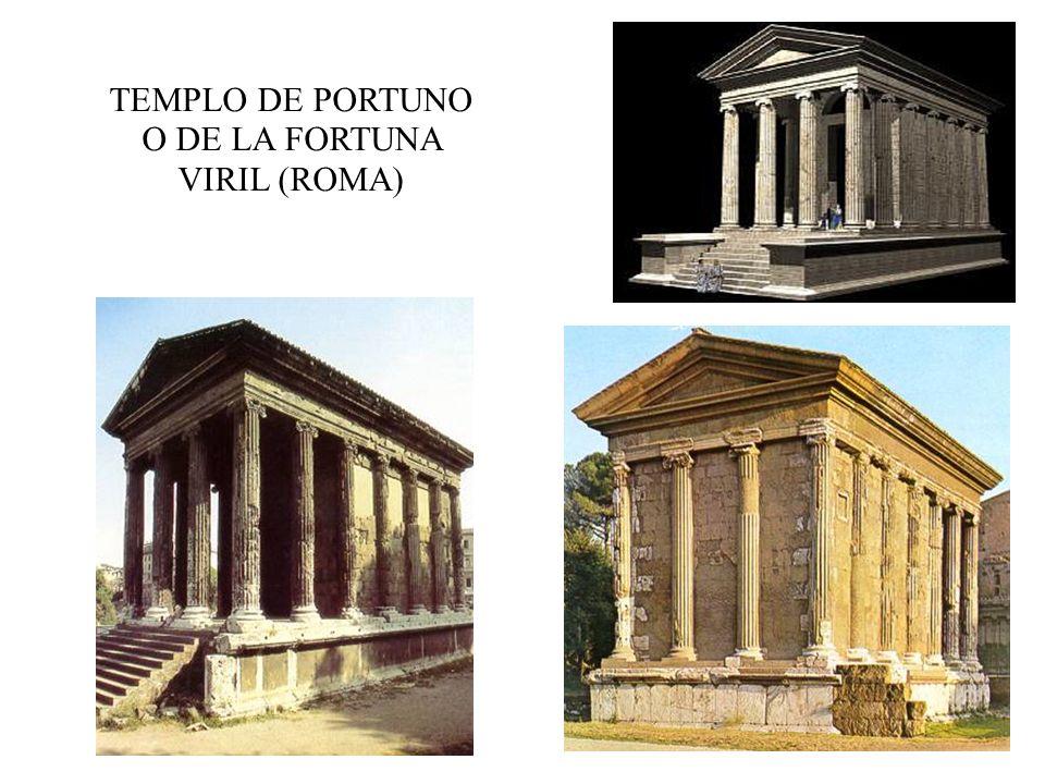 TEMPLO DE PORTUNO O DE LA FORTUNA VIRIL (ROMA)
