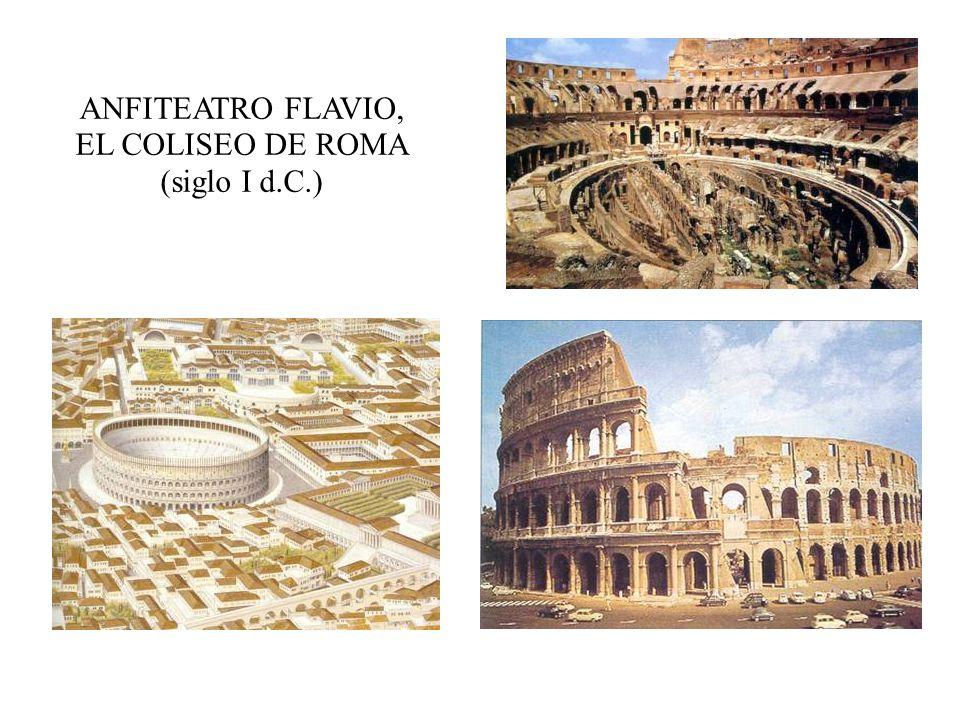 ANFITEATRO FLAVIO, EL COLISEO DE ROMA (siglo I d.C.)