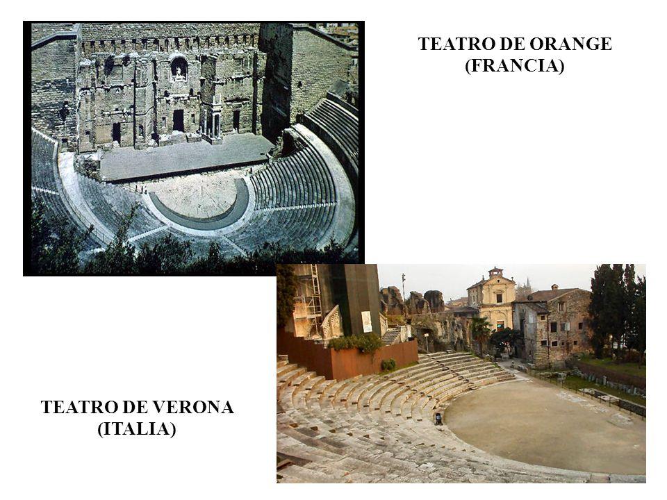 TEATRO DE ORANGE (FRANCIA) TEATRO DE VERONA (ITALIA)