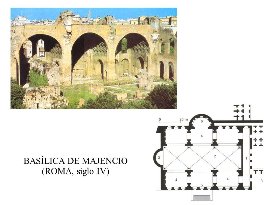 BASÍLICA DE MAJENCIO (ROMA, siglo IV)