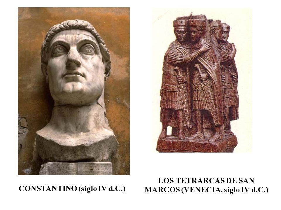 CONSTANTINO (siglo IV d.C.) LOS TETRARCAS DE SAN MARCOS (VENECIA, siglo IV d.C.)