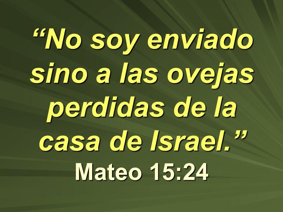 No soy enviado sino a las ovejas perdidas de la casa de Israel. Mateo 15:24No soy enviado sino a las ovejas perdidas de la casa de Israel. Mateo 15:24