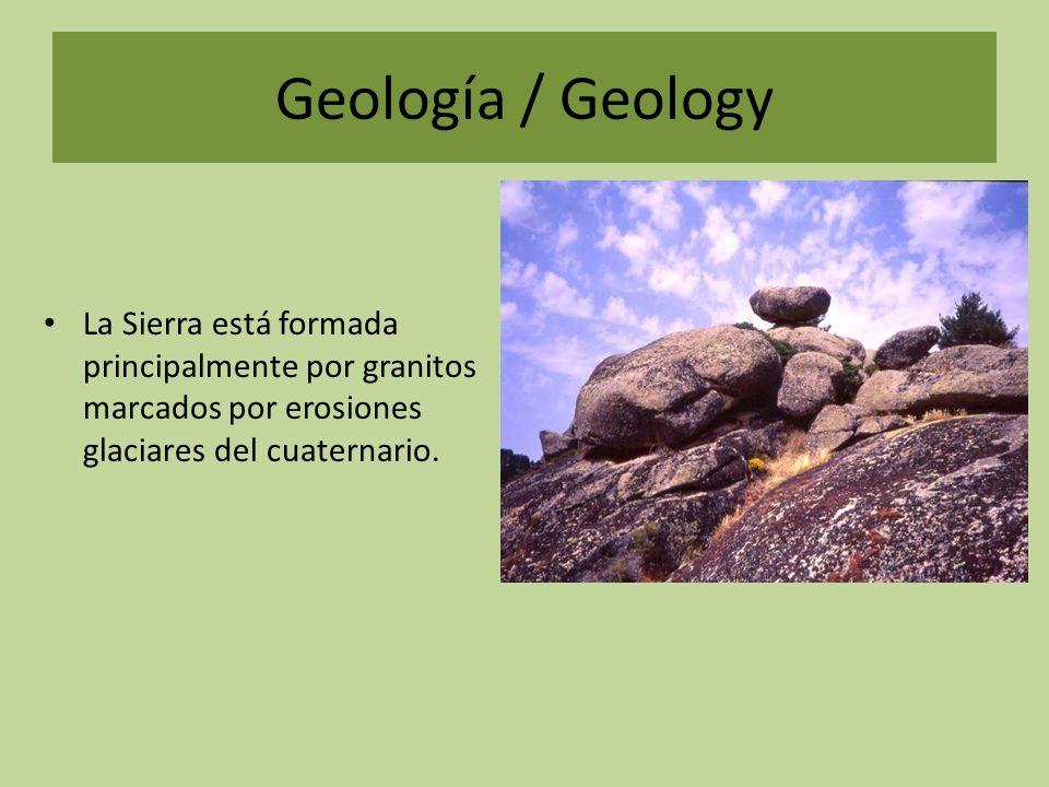 Geología / Geology Como consecuencia de los intensos glaciares podemos encontrar: Lagos, charcas glaciales, circos glaciares, valles glaciares y otros restos de la erosión glacial.