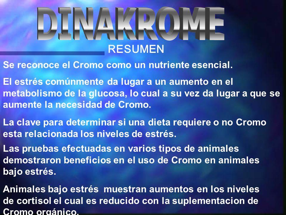 Se reconoce el Cromo como un nutriente esencial.