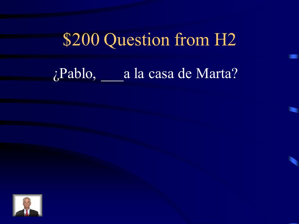 $100 Answer from H2 va