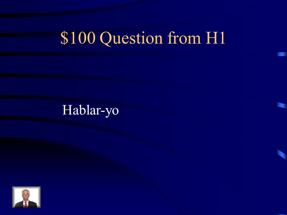 $100 Question from H2 Pablo ____(ir) a la playa.