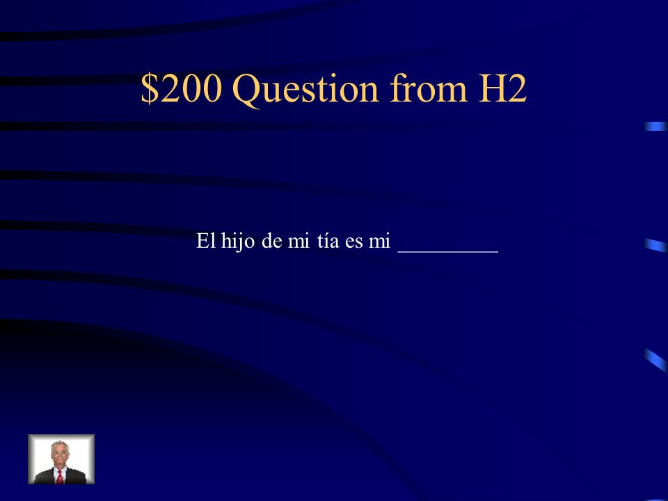$100 Answer from H2 Estar en una silla de ruedas