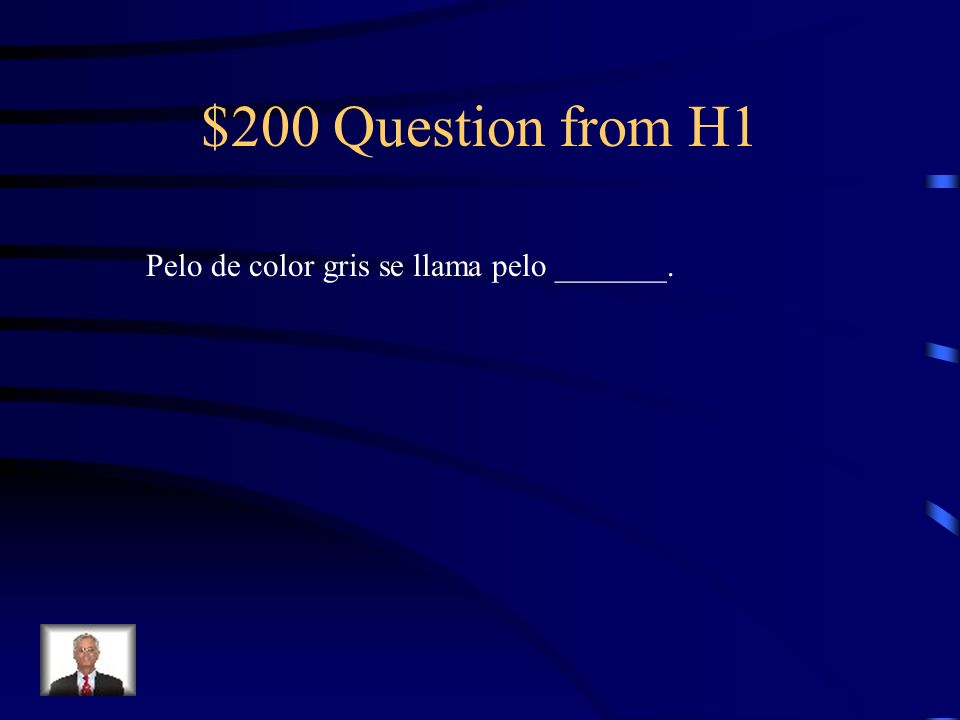 $100 Answer from H1 hijo