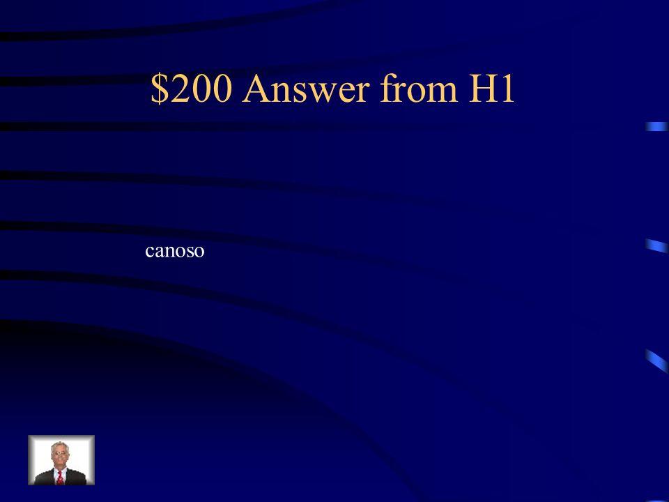 $200 Answer from H5 La cueca