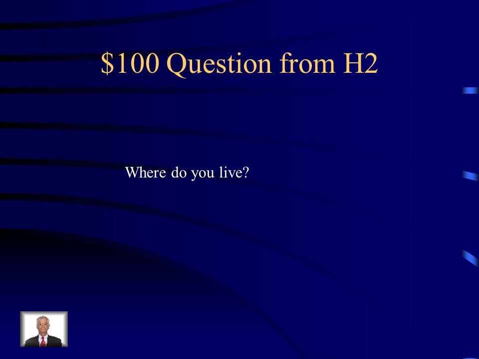 $500 Answer from H1 La cocina- la mesa, la refrigeradora La sala-la ventana, la puerta, el sofá, la alfombra, La habitación-la cama, el escritorio El comedor-la mesa, la silla, la lámpara el garaje-la puerta, las plantas El ban~o-el lavabo, el toilet