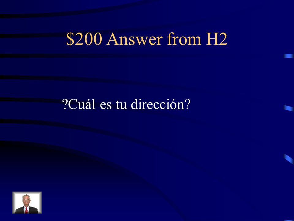 $200 Question from H2 Whats your address?