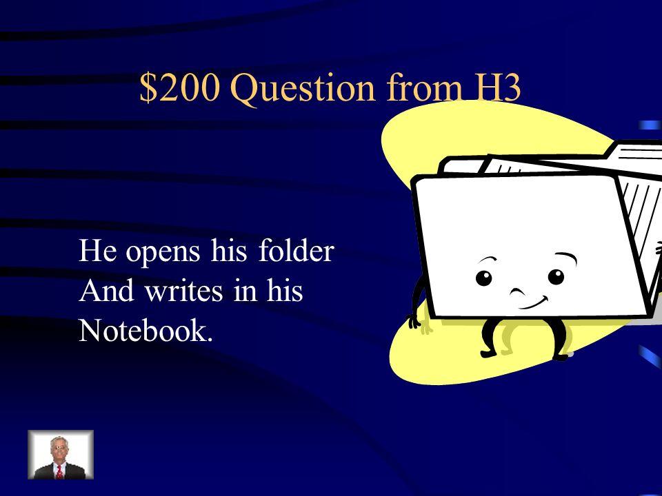 $100 Answer from H3 Bebo/tomo agua y como Hamburguesas.