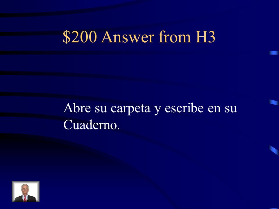$200 Question from H3 He opens his folder And writes in his Notebook.