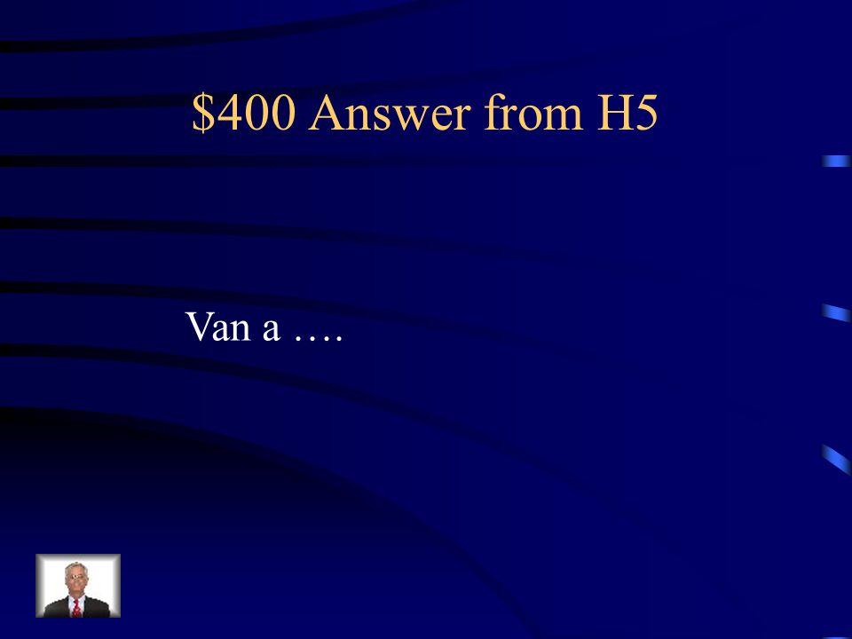 $400 Question from H5 ?Qué hacen tus amigos este Fin de semana?Responde y use Ir+a+inf.