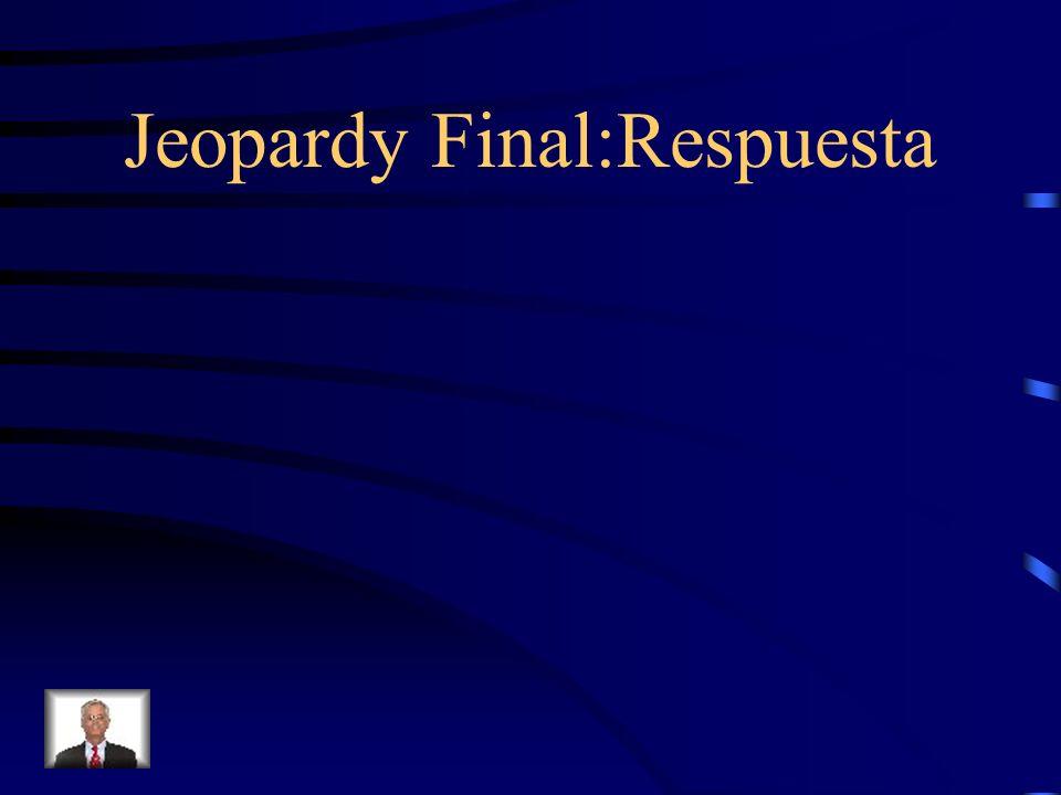 Jeopardy Final Corrige (correct) los 3 errores: Vamos a corremos en el gimnasio porque nosotros nos gustan hacer ejercicio.