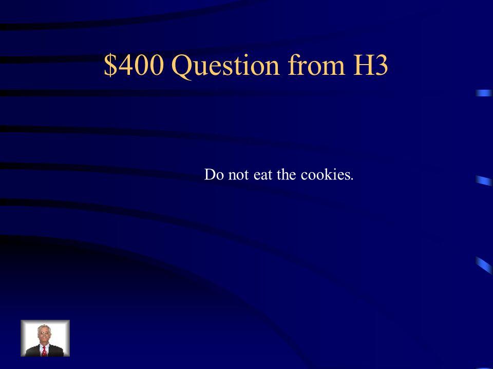 $300 Answer from H3 Escribe la tarea.