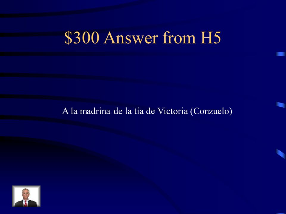 $300 Question from H5 ¿A quién visitan en Segovia?