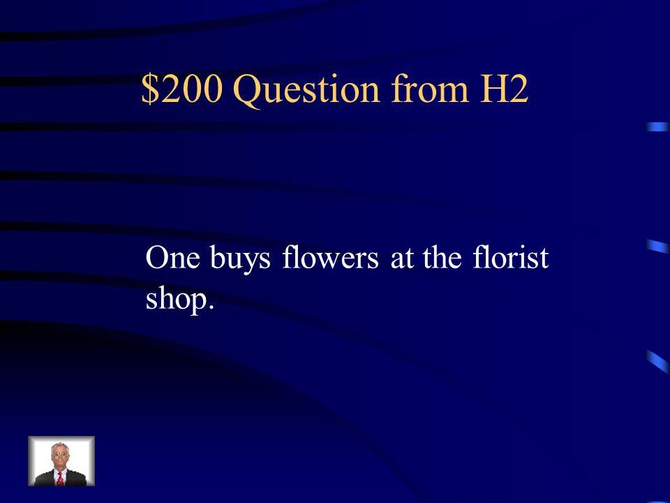 $100 Answer from H2 Se vende pan en la panadería.