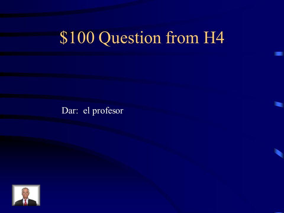 $500 Answer from H3 Compré un periódico en el quiosco.