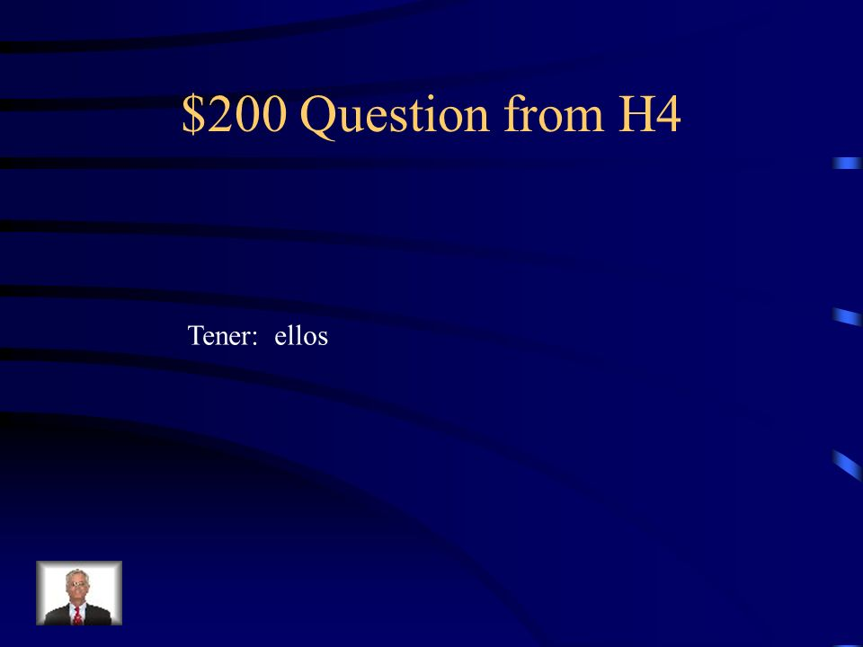 $100 Answer from H4 dio