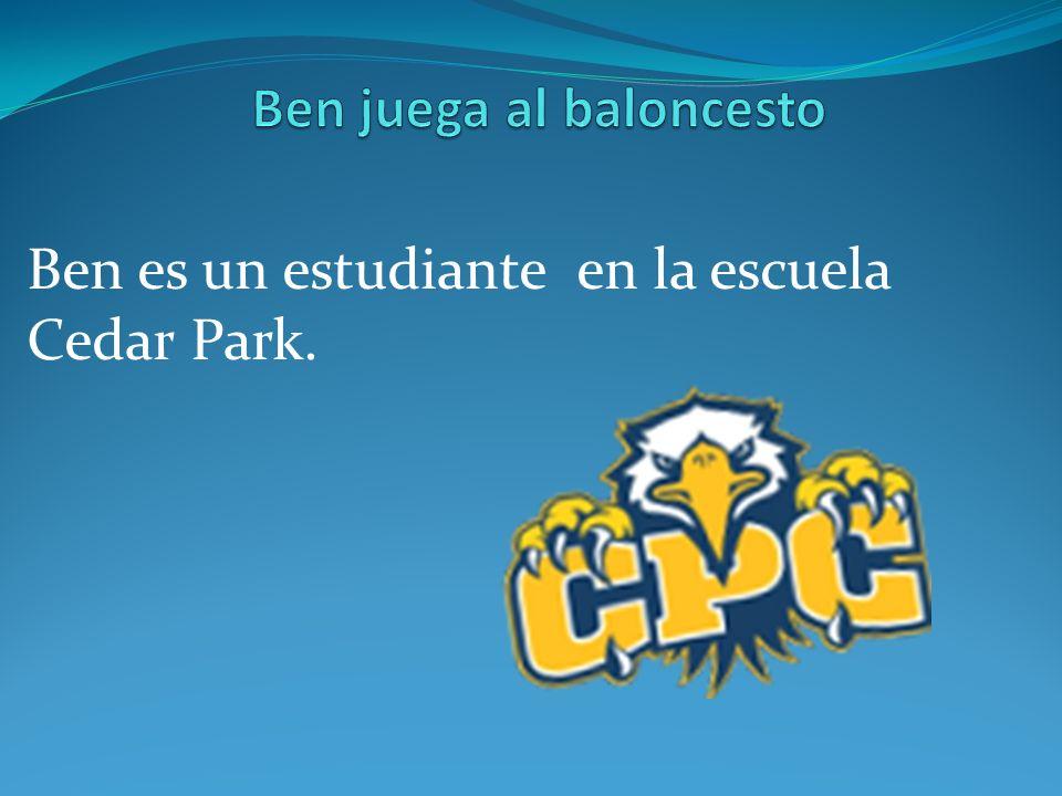 Ben es un estudiante en la escuela Cedar Park.
