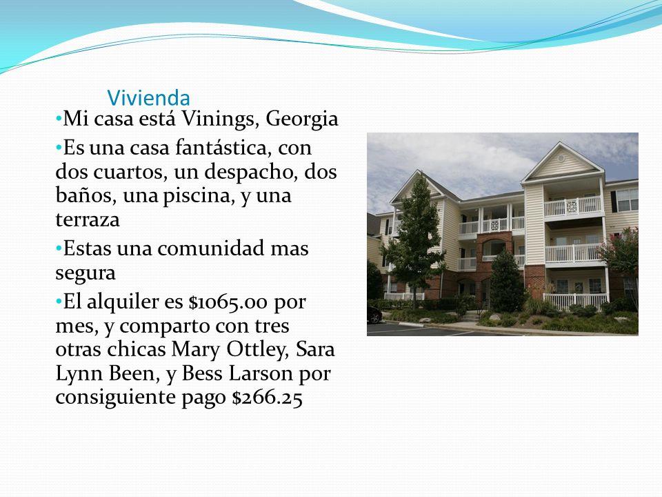 Vivienda Mi casa está Vinings, Georgia Es una casa fantástica, con dos cuartos, un despacho, dos baños, una piscina, y una terraza Estas una comunidad