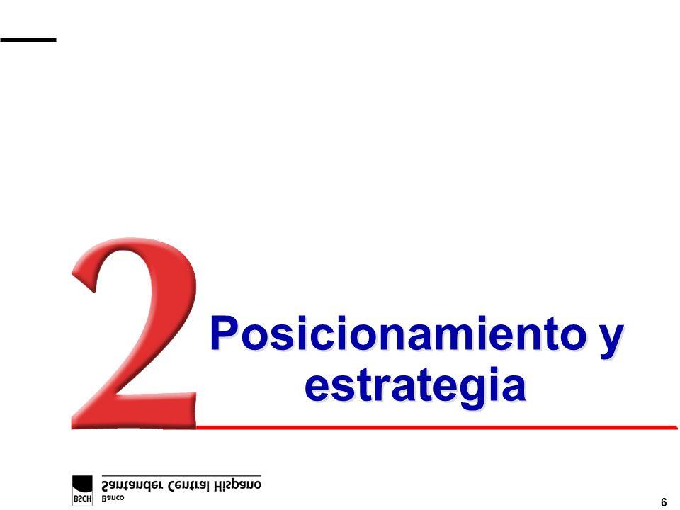 17 Incremento de la presencia en negocios y países de elevado potencial Colombia: n Davivir & Colmena (fondos de pensiones) Puerto Rico: n Negocio Merrill Lynch (gestión de fondos) Argentina: n OPA Banco Rio n Previnter (fondos de pensiones) Perú: n Unión (fondos de pensiones) Brasil: n B.