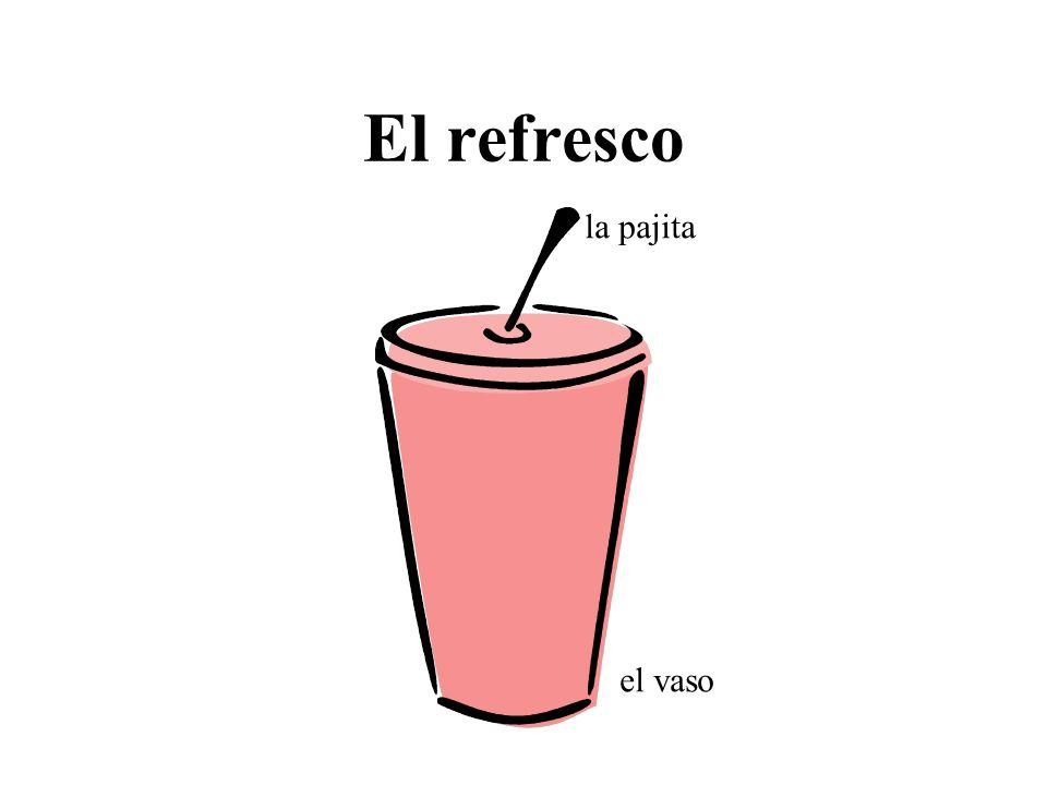 El refresco el vaso la pajita