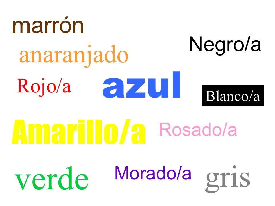 Los coloresLos colores