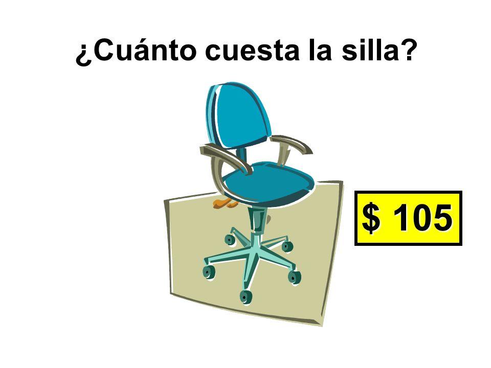 ¿De qué color es la silla? La silla es azul.