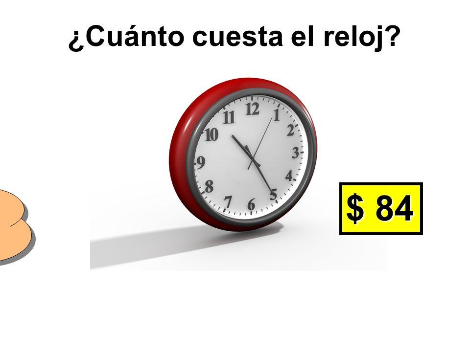 ¿De qué color es el reloj? El reloj es rojo.