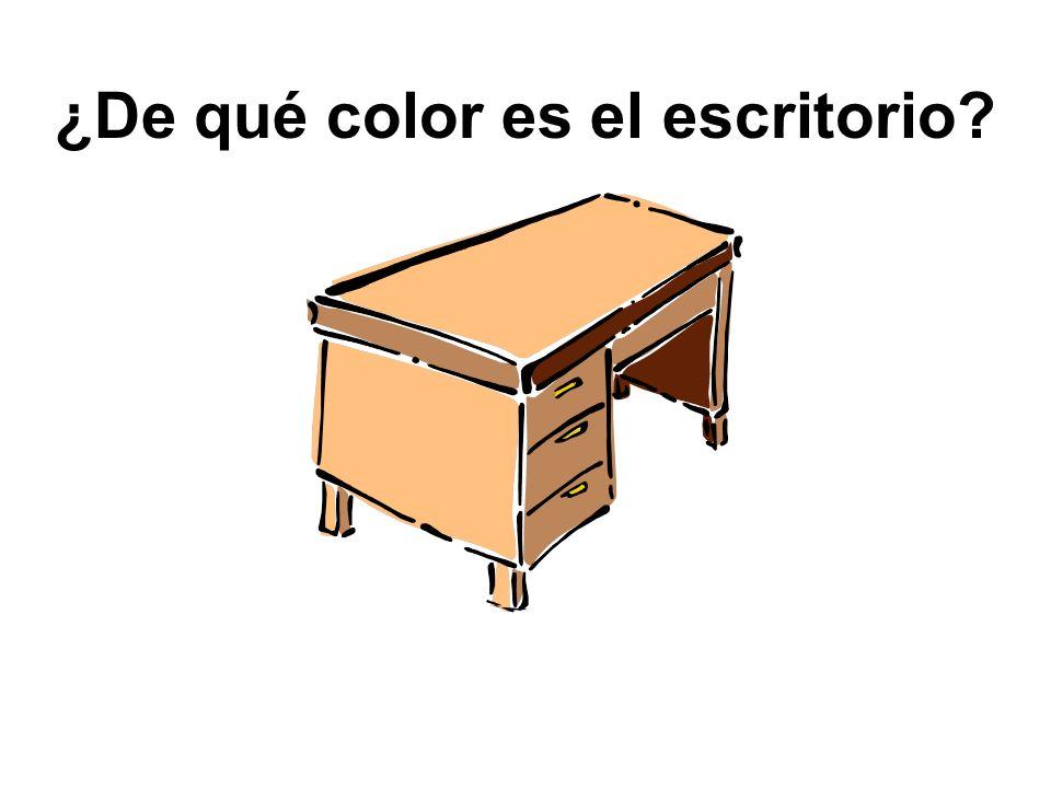 ¿Qué es esto? Esto es un escritorio.