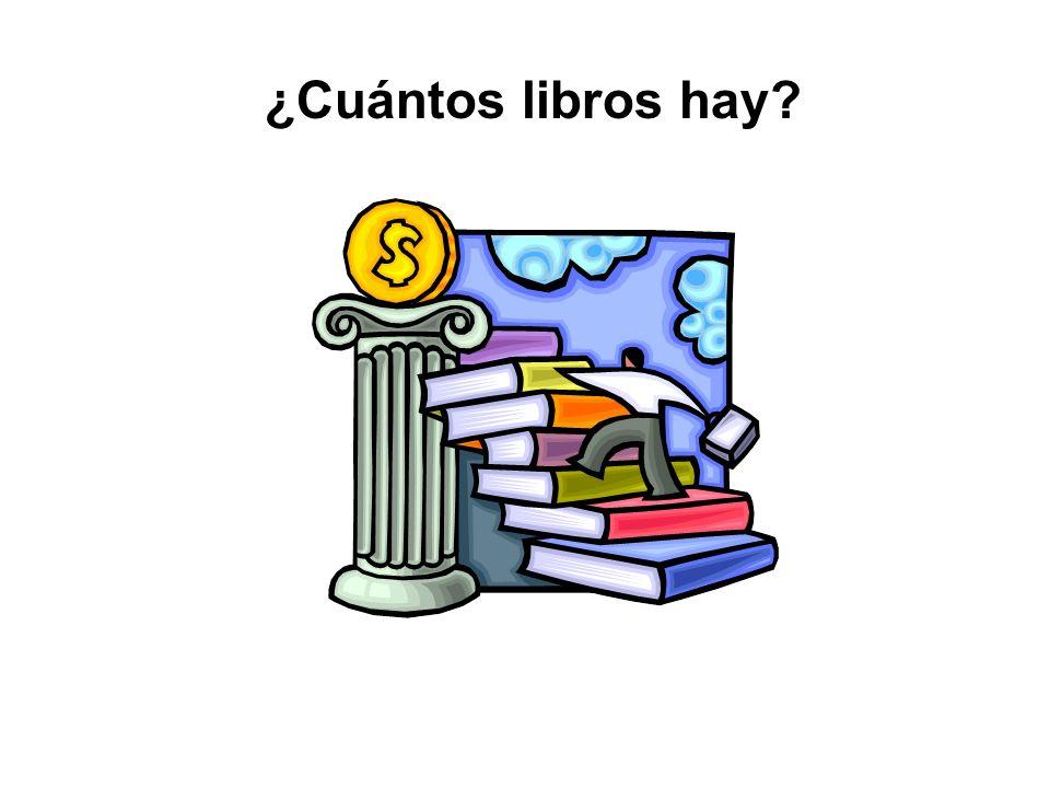 ¿Cuántos libros hay? Hay cinco libros.