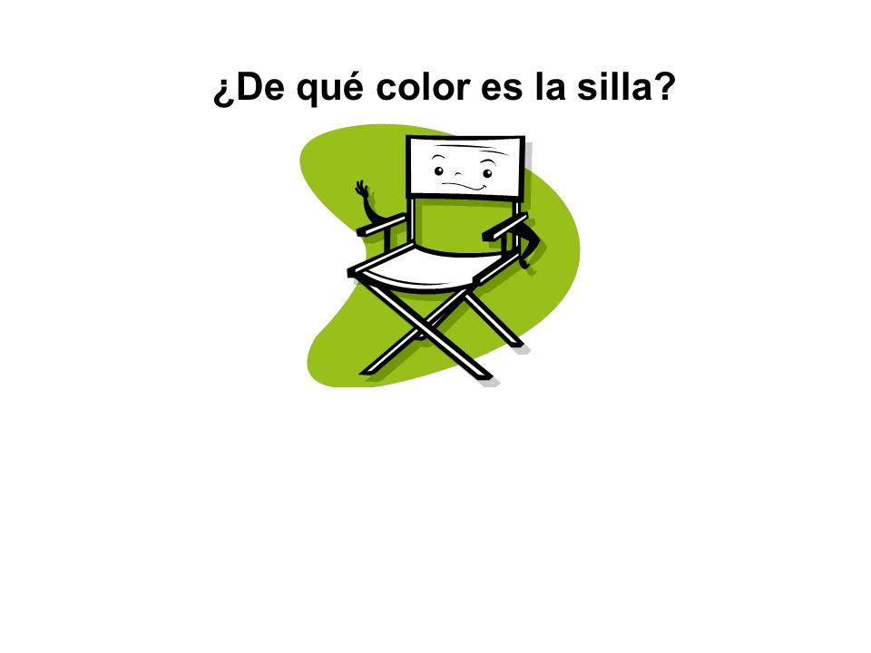 ¿Qué es esto? Esto es una silla.