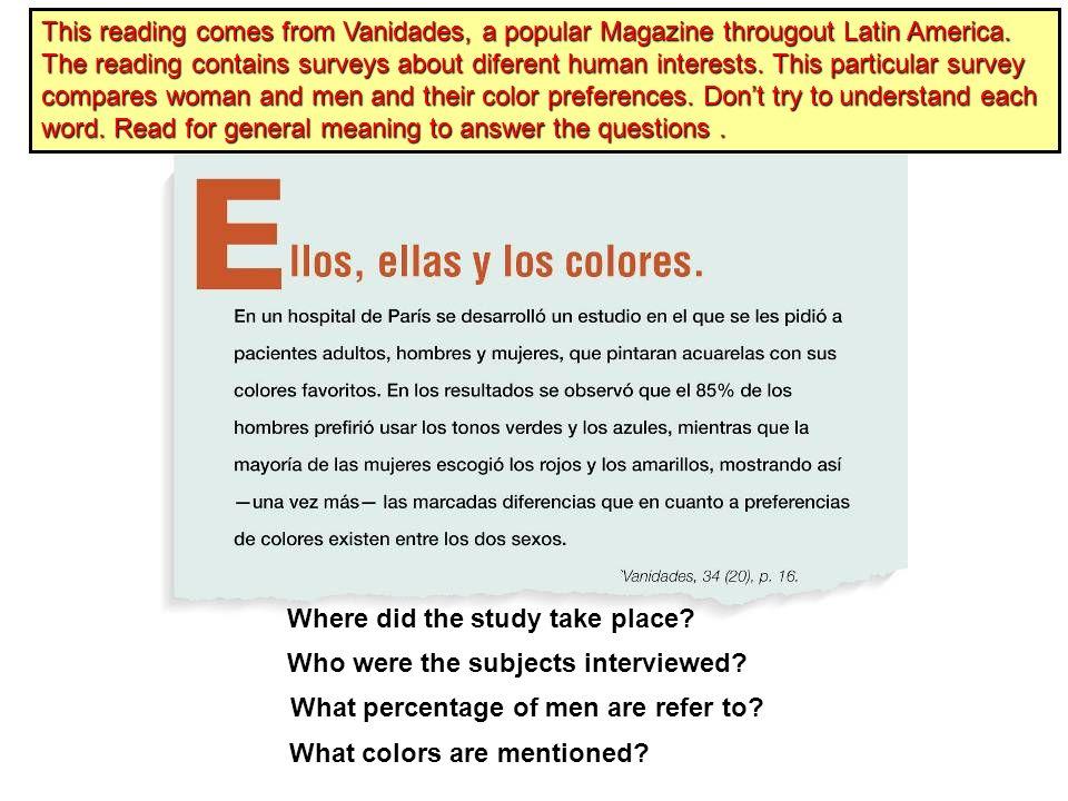 Si mirar el libro identifica cada número. 1. El estudiante 2. La estudiante 3. El mapa 4. La silla 5. El cuaderno 6. Los libros 7. El papel 8. La piza