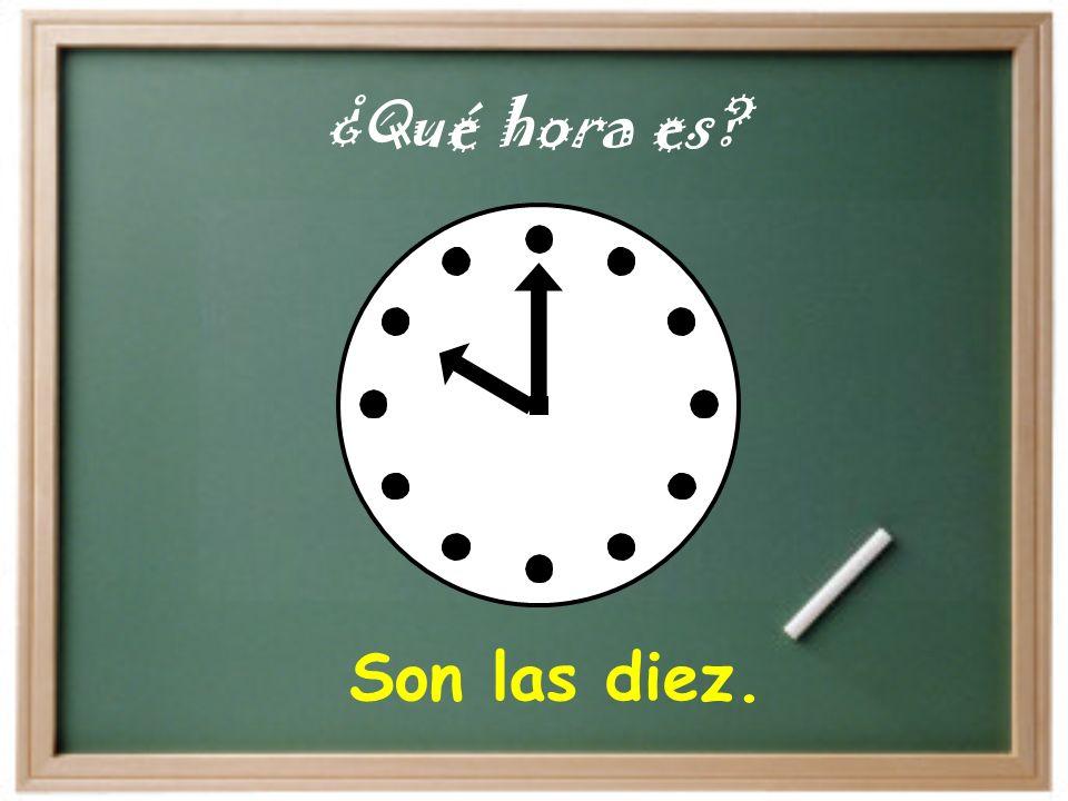 It is… Son las… = Es la… At… A las… = A la… Es la una.. Tengo clase a la una..