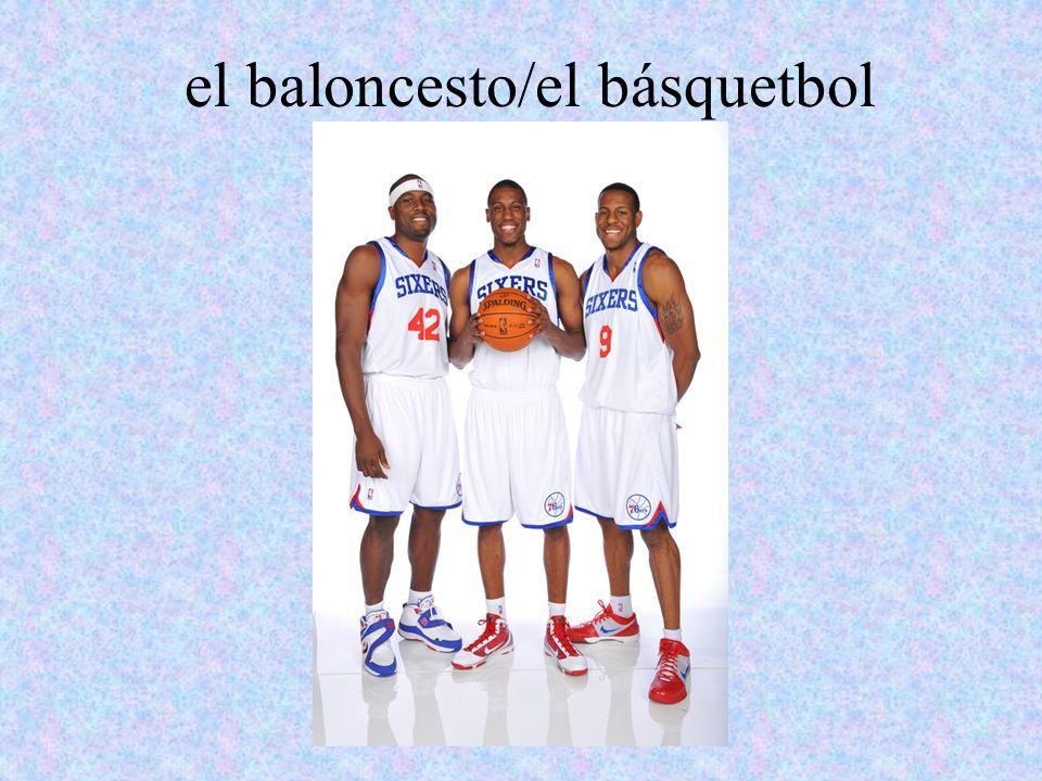 el baloncesto/el básquetbol