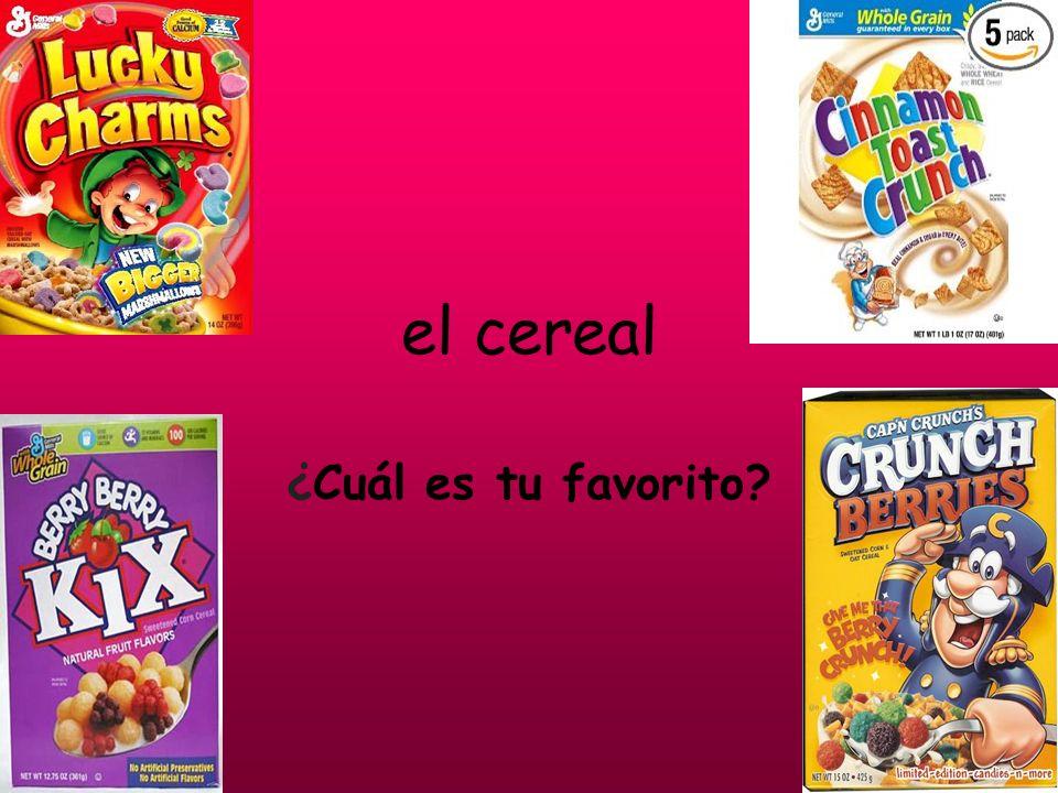 el cereal ¿Cuál es tu favorito?