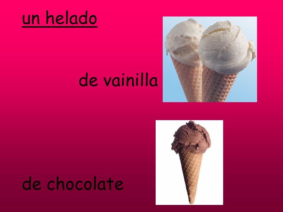 un helado de vainilla de chocolate