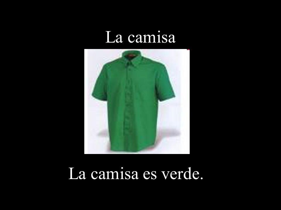 La camisa La camisa es verde.